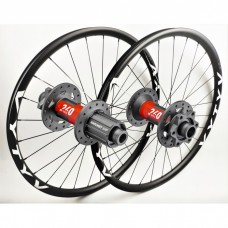 MTB wheelset based on DT Swiss 240 EXP IS hubs by WHEELPROJECT